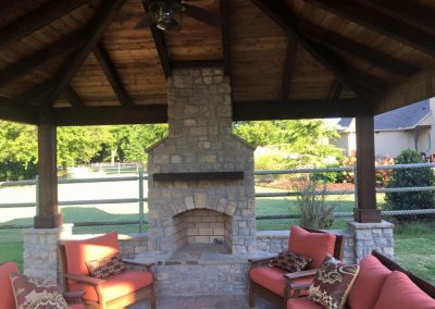 Outdoor Fireplace & Patio Area