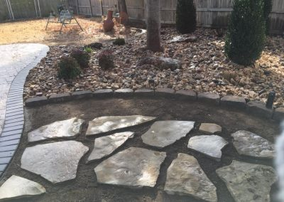 Pavers & Landscaped Walkway