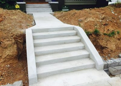 Concree stairs and walkway