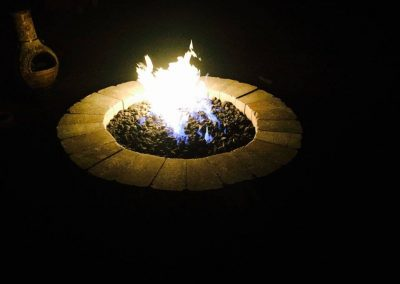 round paver fire pit